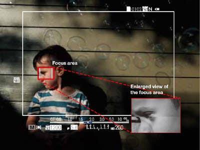 Fujifilm X100T esquema área enfoque