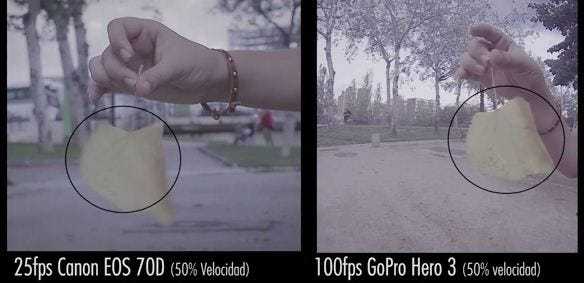 diferencia 25-100 fps