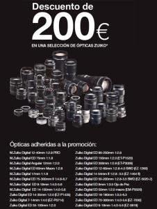 Ópticas adheridas a la promocion descuento 200€ Olympus Zuiko