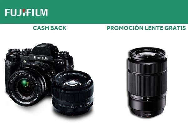 Cashback Fujifilm y promo lente gratis 2014