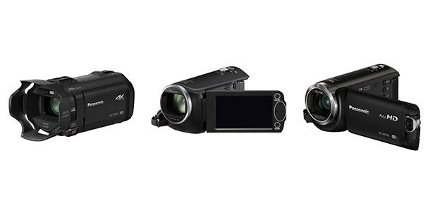 Panasonic Lumix HC-W570, HC-V160 y VX870