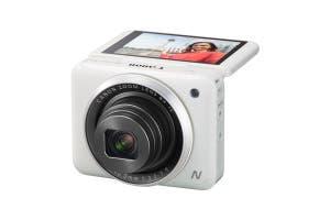 Canon Powershot N2 White LCD 90 degrees