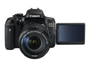 Canon EOS 750D EF-S 18-135 STM FRA LCD open
