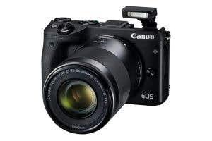 Canon EOS M3 EF-M 55-200 STM FSL Flash Up