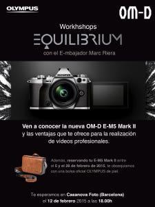 Workshop Olympus OM-D E-M5 Mark II en Casanova Foto Barcelona