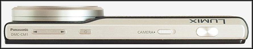 Lado superior Panasonic  LUMIX DMC-CM1