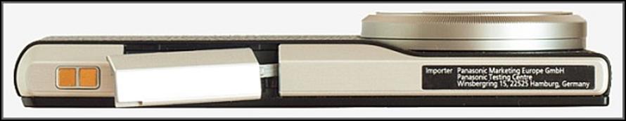 Lado inferior Panasonic  LUMIX DMC-CM1