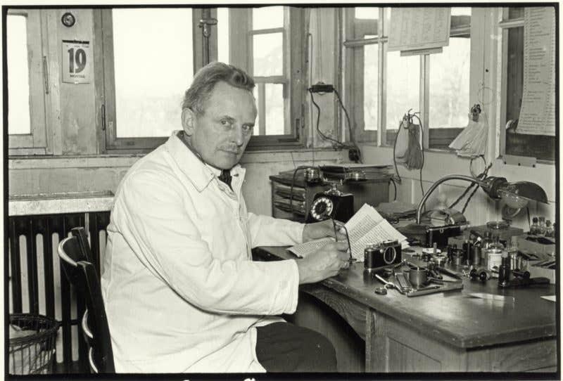 Julius Huisgen, Oskar Barnack at His Workplace in the Hausertor Works, 1934