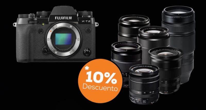Fujifilm x-t2 más óptica fujinon