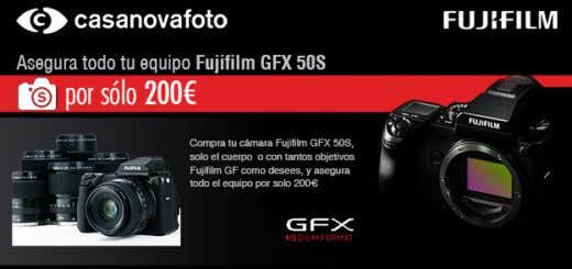 Promoción Fujifilm GFX 50S + Seguro Casanova