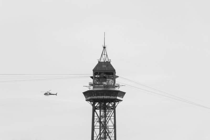 Foto de Isaac Sebastián - Torre del teleférico en la Barceloneta (Barcelona)
