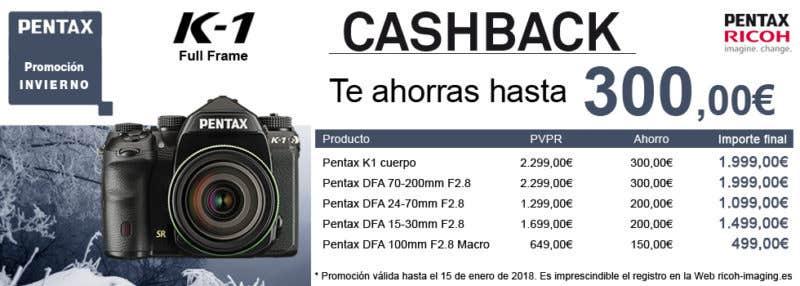 cashback Pentax k-1