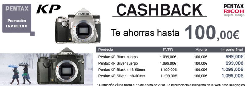 cashback Pentax kp