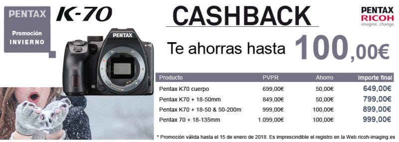 cashback Pentax k70