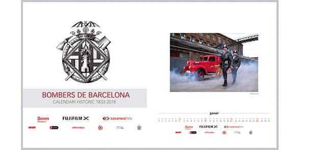 Calendario solidario Bomberos de Barcelona
