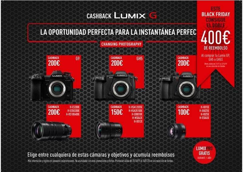 doble cashback Lumix G