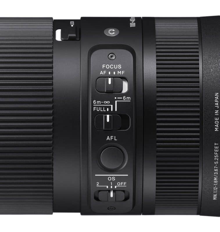Detalle de los controles del Sigma 100-400mm f5-6.3 DG DN | Contemporary