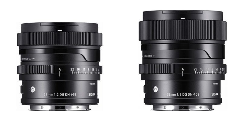 Los objetivos Sigma 35mm f2 DG DN y 65mm f2 DG DN de la serie Contemporary, para cámaras mirrorless.