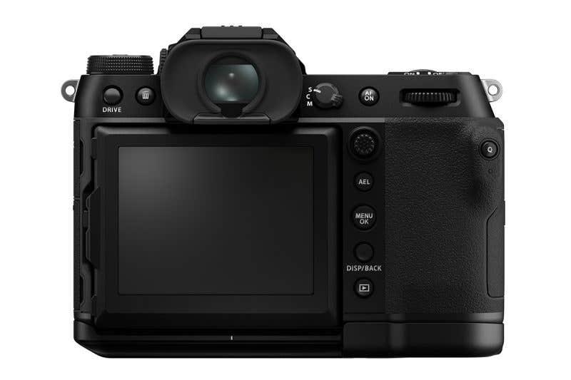 Fujifilm GFX100S trasera